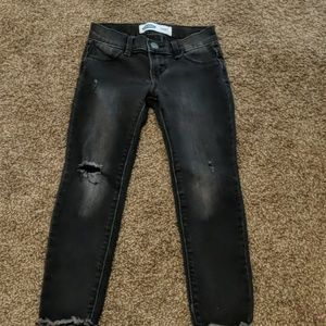 Black distressed jeans from old Navy.